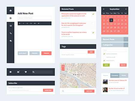 Freebie-PSD-Flat-UI-Kit-2-(Blog)
